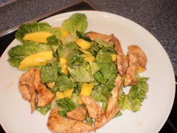 Romana-Salat mit Mango und Hähnchen - Rezept