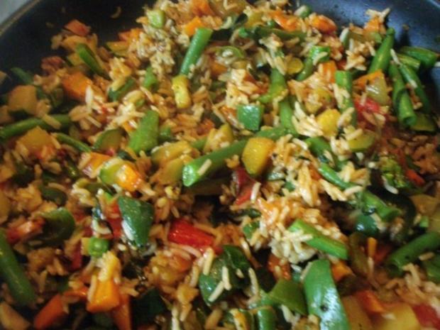 Gemüsereis mit Geschnetzeltem vom Minutensteak - Rezept - Bild Nr. 2