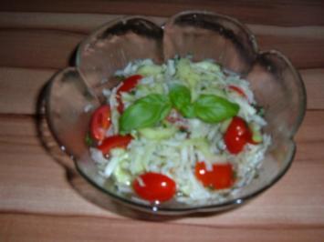 Salat : Gurke - Kohlrabi - Tomate - Rezept - Bild Nr. 2
