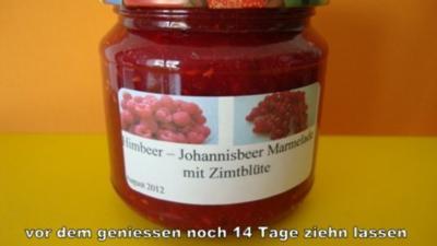 Himbeer - Johannisbeer - Zimtblüten Marmelade - Rezept
