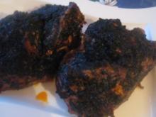 Schwarzer Chili Hahn NT mit Bratkartoffeln - Rezept