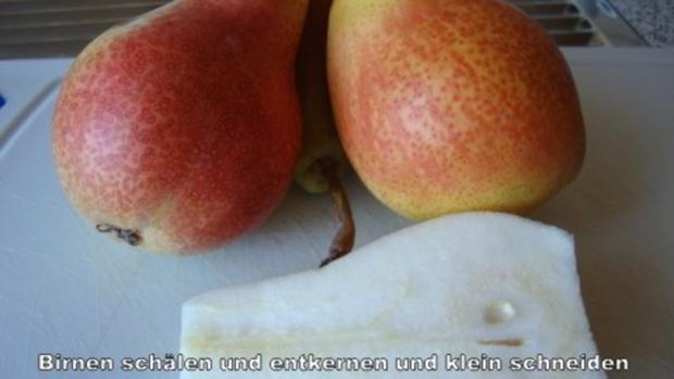 Aprikosen - Birnen Marmelade mit Mandelkrokant - Rezept - Bild Nr. 2