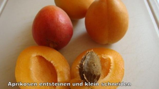 Aprikosen - Birnen Marmelade mit Mandelkrokant - Rezept - Bild Nr. 3