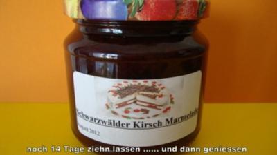 Schwarzwälder Kirsch Marmlade - Rezept