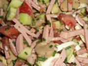 Lyoner Salat dazu Krischtelscher - Rezept