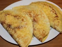Pfannkuchen-Calzone mit Spinat-Feta-Füllung - Rezept
