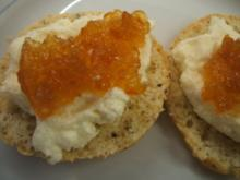 Backen: Nut-Scones with Sweet Clotted Cream - Rezept