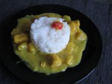 indisches Fisch-Curry mit Reis - Rezept