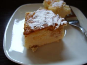 Apfel-Quarktorte mit Grieß - Rezept