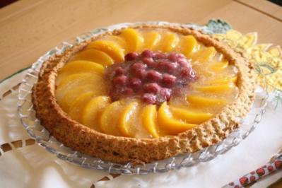 Obstkuchen mit Puddingcreme - Rezept