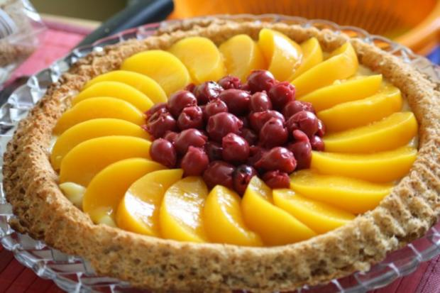 Obstkuchen mit Puddingcreme - Rezept - Bild Nr. 3
