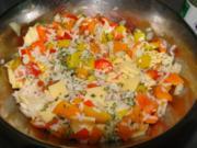 Reissalat mit viel drin saulecker als Beilage zum Grillen und wenn das Wetter nicht - Rezept