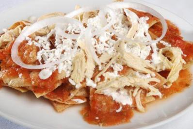 Chilaquiles rojos con Pollo - Rezept - Bild Nr. 2