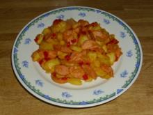 Knacker-Paprika-Kartoffelgröstel - Rezept