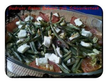 Fleisch: Hawaianisches Nackensteak gebettet in grünen Bohnen - Rezept