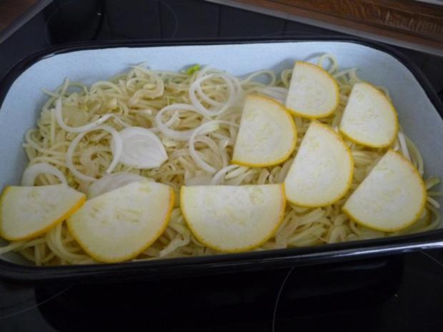 Fleischlos : Spaghettiauflauf mit Gemüse - Rezept - Bild Nr. 5