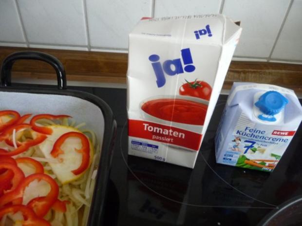 Fleischlos : Spaghettiauflauf mit Gemüse - Rezept - Bild Nr. 7