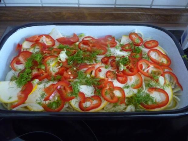 Fleischlos : Spaghettiauflauf mit Gemüse - Rezept - Bild Nr. 10