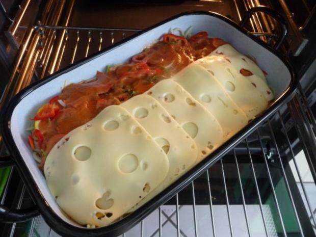 Fleischlos : Spaghettiauflauf mit Gemüse - Rezept - Bild Nr. 14