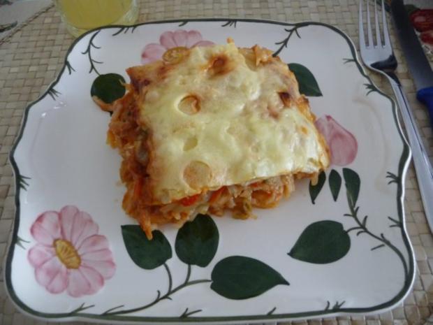 Fleischlos : Spaghettiauflauf mit Gemüse - Rezept