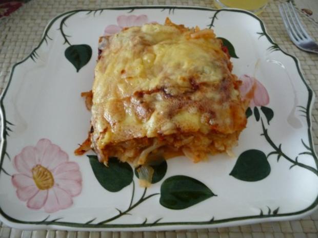 Fleischlos : Spaghettiauflauf mit Gemüse - Rezept - Bild Nr. 16