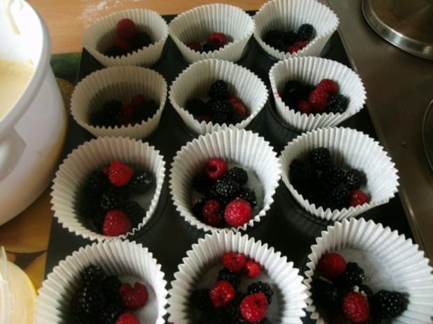 Himbeerige - Brombeer Muffins - Rezept - Bild Nr. 6