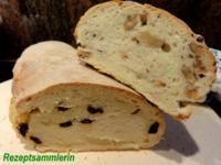 Brot:  CIBATTA mit Walnüssen oder eingelegten Tomaten - Rezept