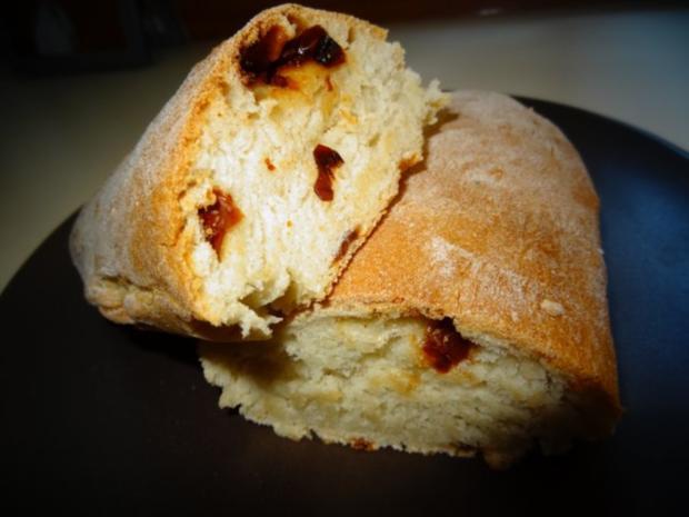 Brot:  CIBATTA mit Walnüssen oder eingelegten Tomaten - Rezept - Bild Nr. 2