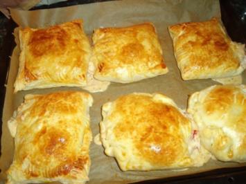 Schinken-Käse-Blätterteigtaschen - Rezept