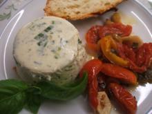 Käse: Parmesan-Panna Cotta mit Lauch und Ofengemüse - Rezept