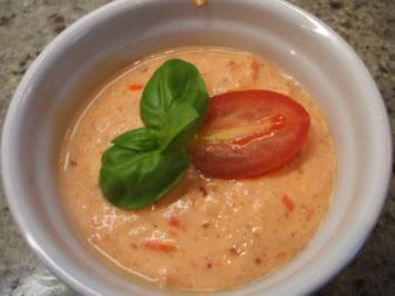 Rezept: Soßen: Kalte Tomatensoße, frisch-würzig