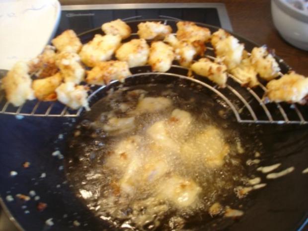 """Kibbelinge """"asiatisch"""" mit Remoulade und Pommes frites - Rezept - Bild Nr. 8"""