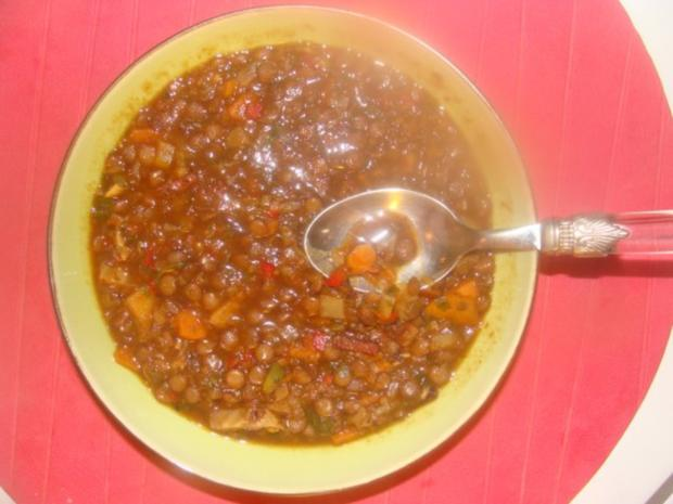 Suppen : Ungar. Paprika - Linsensuppe - Rezept