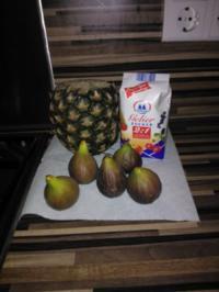 Ananas mit Feige Konfitüre - Rezept