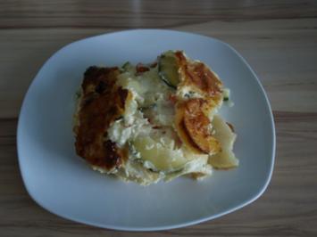 Zucchini- Kartoffel- Auflauf - Rezept