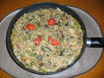 Gemüse-Reispfanne - Rezept