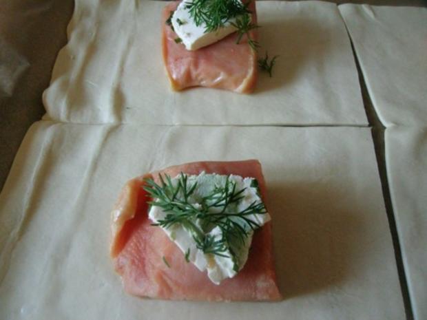 2 erlei Lachs in Blätterteig - Rezept - Bild Nr. 3