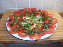 Tomaten - Mozzarella Platte - Rezept