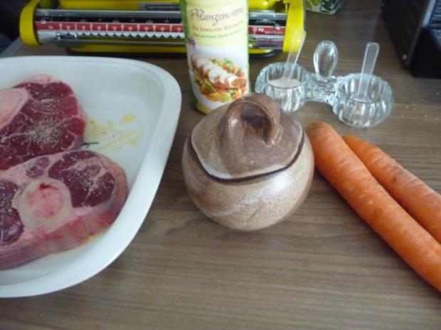 Rind : Beinscheibe mal anders...mal aus der Röhre...mit Gemüse - Rezept - Bild Nr. 5