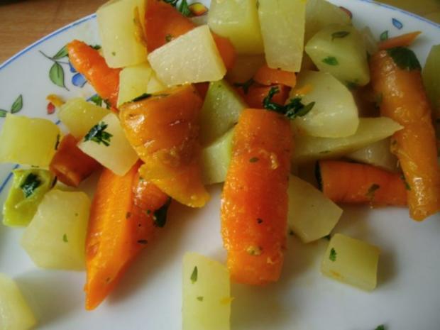 Möhren-Kohlrabi Gemüse - Rezept