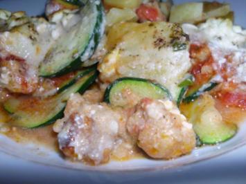 Kartoffelauflauf mit Zucchini und Hackfleisch - Rezept
