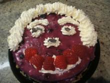 Backen: Frischkäse-Bröselboden-Torte für 16er Form - Rezept