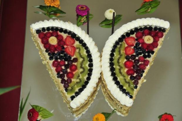 Schmetterlingstorte Mit Fur Den Biskuit Und Eier Rezept Mit Bild