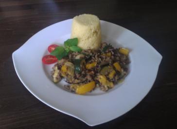Gemüse -Hackfleischpfännchen mit Couscous - Rezept
