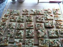 PIZZA / TARTE / Flammkuchen mit Lachs - Rezept