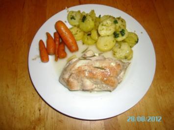 Rezept: Gefülltes Hühnerschnitzel mit Karotten