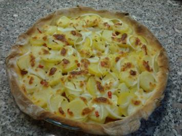Pikante Kartoffel-Pizza - Rezept