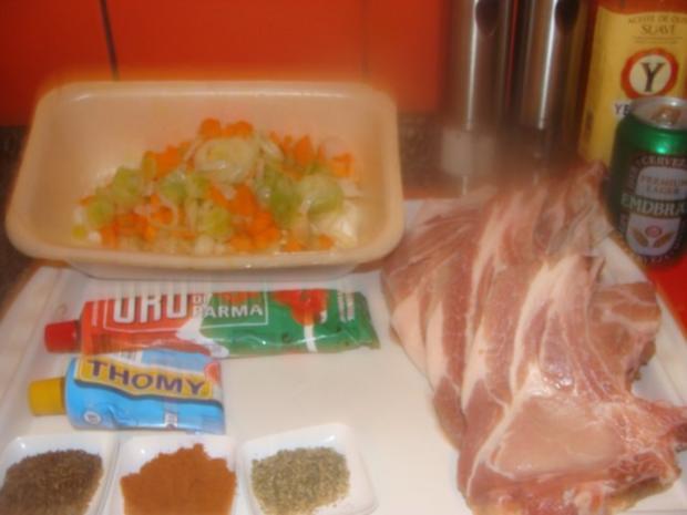 Fleisch : Schweinekottelet im Ofen geschmort- - Rezept - Bild Nr. 3