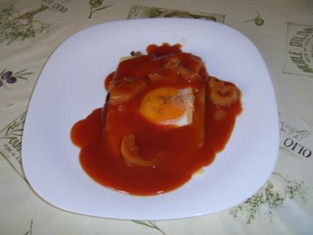 Letscho Käse Spiegelei - Rezept