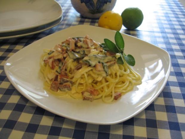 Spaghetti mit Salbeisoße - Rezept